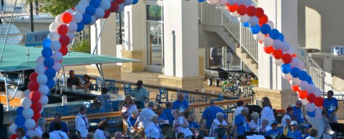Balloon arch at the Wharf Orange Beach Alabama