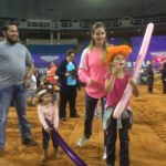 Balloon twisting for the Monster Jam Pit Party, Biloxi, Mississippi